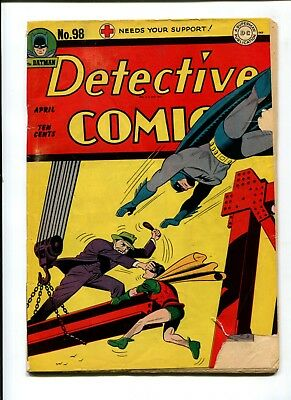 Detective Comics #98 VINTAGE Batman DC Comic Golden Age 10c Robin