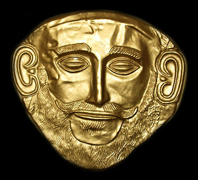 Gold Mask of Agamemnon Mycenaean Mycenae Troy Death Face Wall Sculpture Replica
