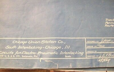 Cus Chicago Union Station Co. - Blueprint - South Interlocking Circuits - 1923