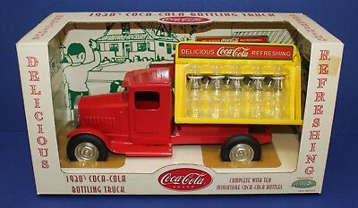 "Gearbox Pressed Steel 1930s Coca Cola Steelcraft Truck 10.5"" MIB 2001"