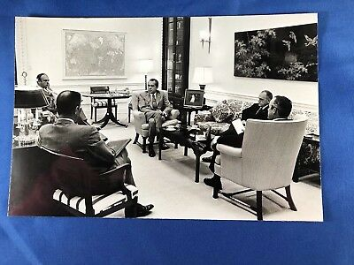 Nixon Staff Meeting Official White House Photo 5/3/72