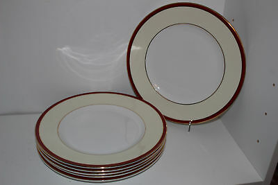 "6 Royal Grafton Fine Bone China ""summer Wine""10.75"" Dinner Plates-England"