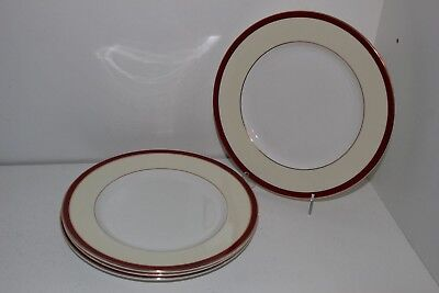 "4 Royal Grafton Fine Bone China ""summer Wine"" 8.25"" Salad Plates-England"