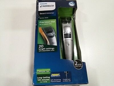 Philips Norelco Beard trimmer Series 3500, 20 built-in length settings, QT401.