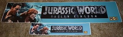 Jurassic World 2 Fallen Kingdom Mylar Banner Movie Theater Poster Small Large