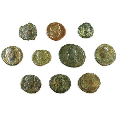 Ten (10) Nicer Ancient Roman Coins c. 100 - 375 A.D. Exact Lot Shown rm3308