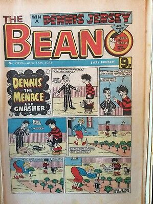 Box j rare Beano Comic No 2039 August 15th 1981 Dennis The Menace