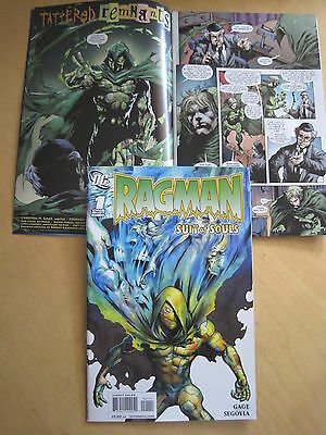 "RAGMAN : ""SUIT of SOULS"" ONE-SHOT by GAGE & SEGOVIA. ARROW.. 1st PRINT. DC. 2010"