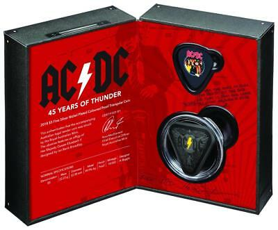 2018 AC/DC Collector Proof Coin Nickel Plated Silver - Free Post!