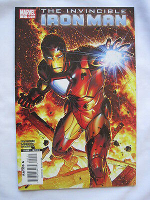 THE INVINCIBLE IRON MAN  2  Direct Edition. By FRACTION & LARROCA. MARVEL  2008
