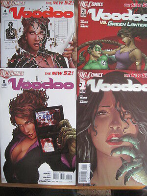 VOODOO    #  1,2,3,4.  1st PRINTs. GREAT COVERS !!  THE NEW 52.    DC   2012
