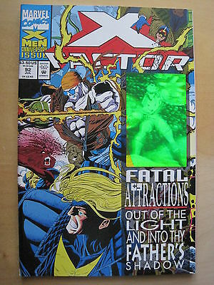 X-Factor  92. Fatal Attractions.  Hologram Enhanced Cover. Marvel. 1993