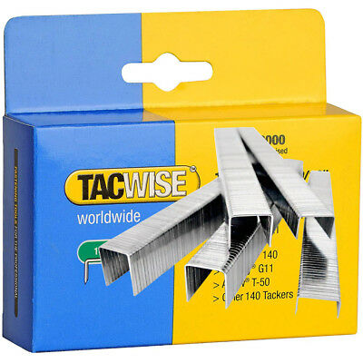 Tacwise Type 140 Series Staples Galvanised Finish 10.6mm Crown Width