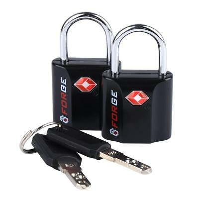 FORGE TSA APPROVED Suitcase Locks Purple 2 Pack Security