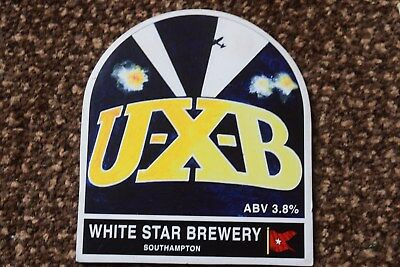 White Star Brewery. U-X-B Beer Pump Clip Front Only.
