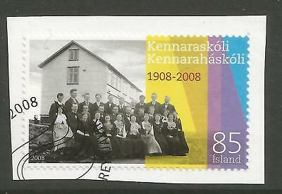 ICELAND 2008 100th ANNIV' OF TEACHER'S COLLEGE  ON A PIECE, SCOTT 1177, USED (o)