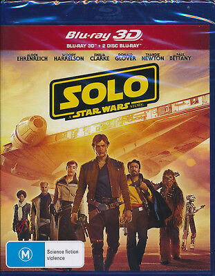 Solo A Star Wars Story 3D 2D Blu-ray NEW Region B