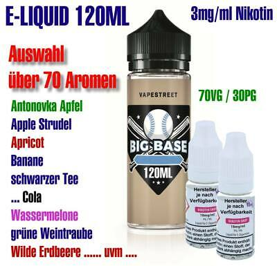 120ml V-APE Liquid Base 70/30 shake Fertig e-Liquid 3mg/ml Nikotin 72 Sorten