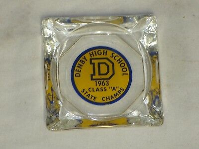 Vtg Detroit Denby High School 1963 Class A State Champs Ash Tray
