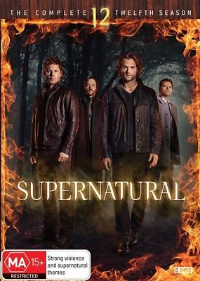 Supernatural Complete Season Twelve 12 DVD NEW Region 4