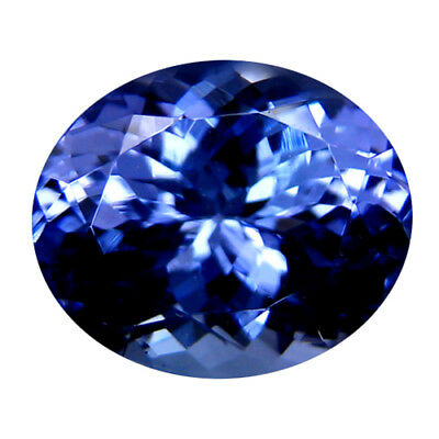 4.64Ct MIND BOGGLING ! TOP RICH FIRE AAA+ BLUISH VIOLET NATURAL TANZANITE