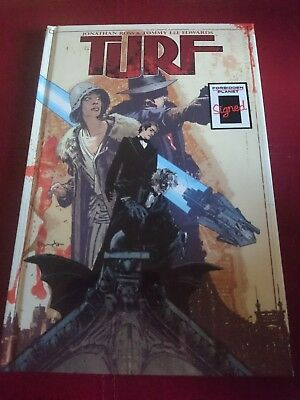 Turf Graphic Novel Hardback. Signed. Jonathan Rose. Tommy Lee Edwards