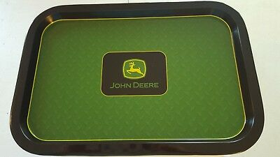 John Deere Tin Serving Tray New Tractor 13.5'' Collectible Gift Rolling Tray