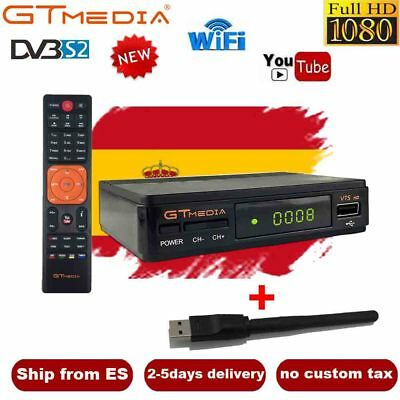 DVB-S2 Satellite Receiver GTMEDIA V7S FTA +Wifi Bisskey HD 1080P Digital decoder