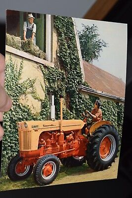 vintage 1960s CASE ADVERTISING INVITATION CARD to see case-o-matic tractors