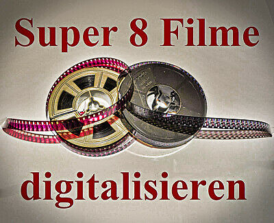 Super 8 auf DVD / 15m / Super8 / Normal 8 / N8 / S8 / Schmalfilm digitalisieren