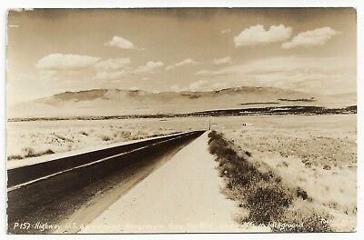 RP Highway Route 66 Entering Albuquerque New Mexico from the West 1940s Postcard