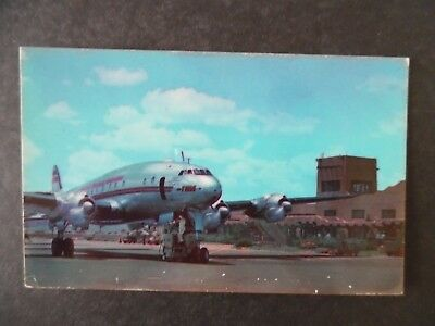 1950s Albuquerque New Mexico Airport & TWA Airplane Postcard