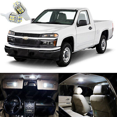 12 X Xenon White Led Interior Lights Package Kit For Chevy Colorado 2004 2017