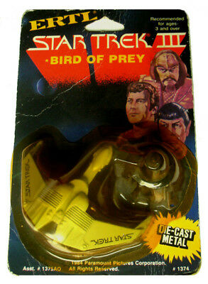 Star Trek: 1984 Ertl Diecast Bird Of Prey (Star Trek Iii)