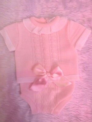 Stunning baby girls Spanish style bow top & jam pants outfit 0-3 months BNWT
