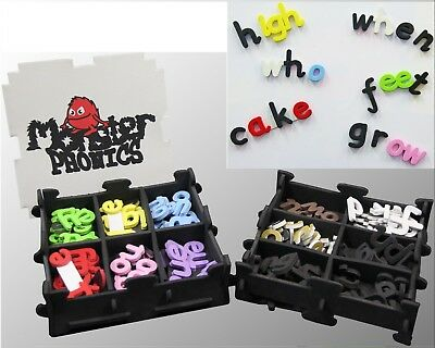 Monster Phonics Magnetic Letters Colour-Coded for Sound