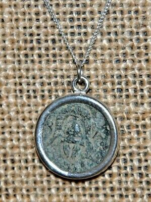 Alexander III The Great Shield & Helmet Authentic Coin Sterling Silver Necklace