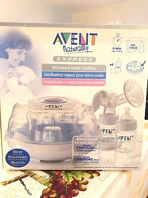 Philips Avent Microwave Steam Sterilizer With 2 9oz Bottles