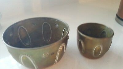 Small Arts and Crafts Antique Brass Pots