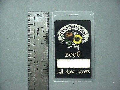 Allman Brothers Band backstage pass Laminated Authentic 2006 Tour