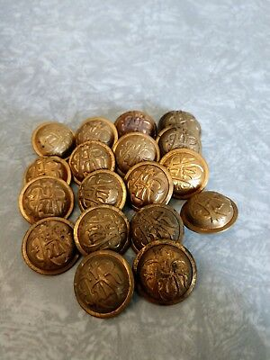 18 ANTIQUE GAR GRAND ARMY of the REPUBLIC CIVIL WAR UNION VETERANS BUTTONS