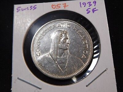 O57 Switzerland 1939 5 Francs