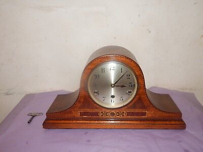 Antique Edwardian Inlaid Chiming Mantle Clock.