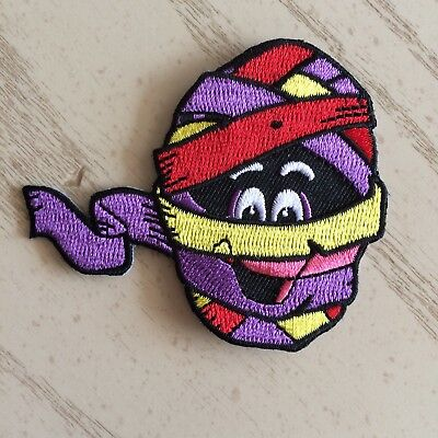 """Yummy Mummy 3"""" Embroidered Patch with Iron-on Backing Horror Punk Cereal Monster"""