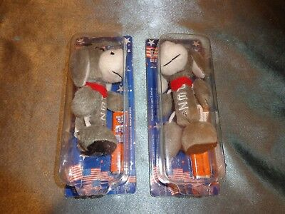 Two Pez POLITICAL Party Stuffed Animals Donkey Toy Candy Dispensers 2006