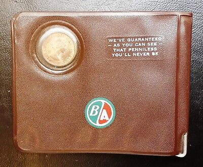 Vintage Good Luck Wallet with Penny Inside - Guaranteed Never To Be Penniless