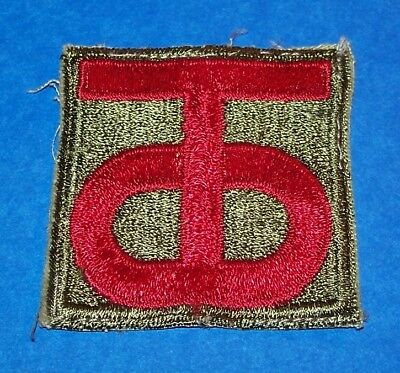 ORIGINAL CUT-EDGE WW2 90th INFANTRY DIVISION PATCH OFF UNIFORM
