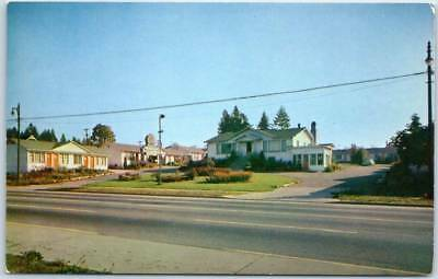 Vancouver BC Canada Postcard PEACOCK AUTO COURT Motel 3540 Kingsway 1950s UNUSED