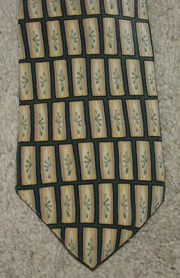 Stonehenge Cocktail Collection Green & Yellow Wine Made in USA Silk Tie