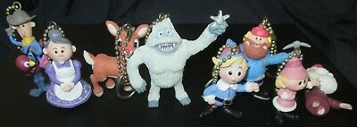 RUDOLPH & the ISLAND OF MISFITS TOYS lot of 8 figure keyring key chain keychains